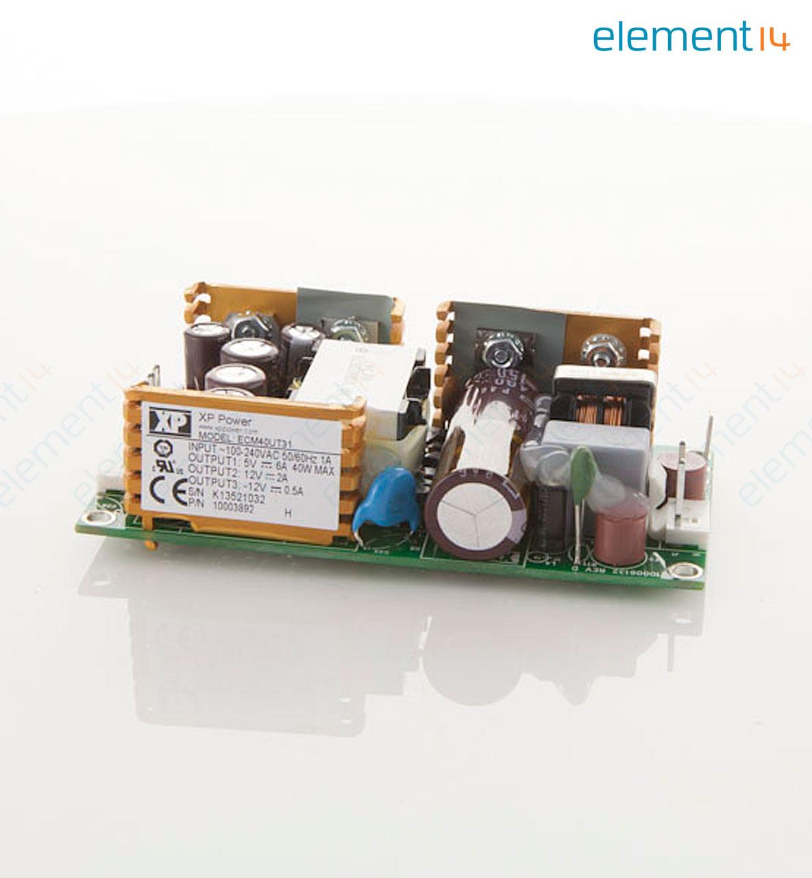 ECM40UT31 XP POWER, AC/DC Open Frame Power Supply (PSU), ITE ...