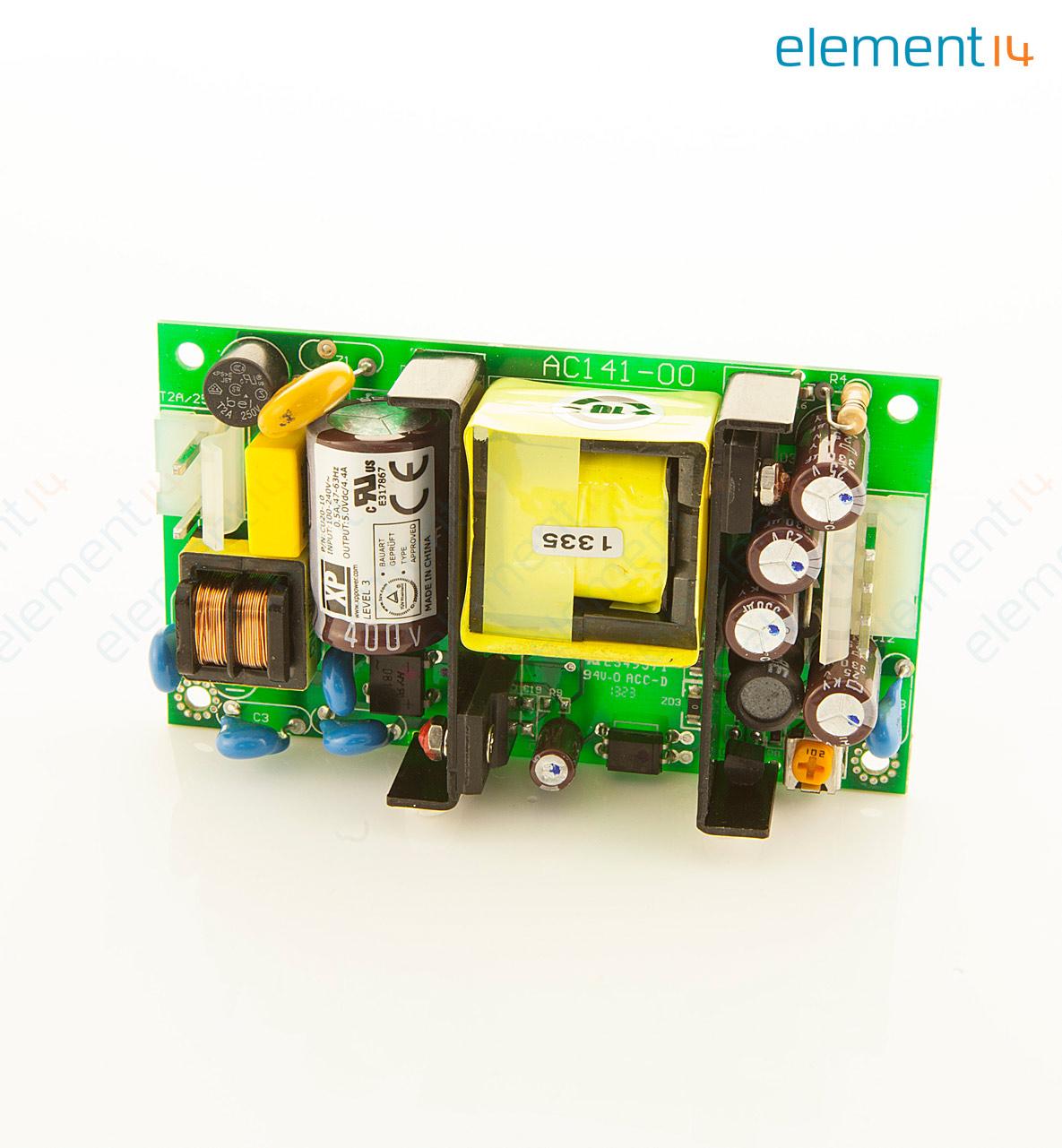 AC/DC PCB Mount Power Supply (PSU), ITE, 1 Output, 20 W, 5 V, 4 4 A