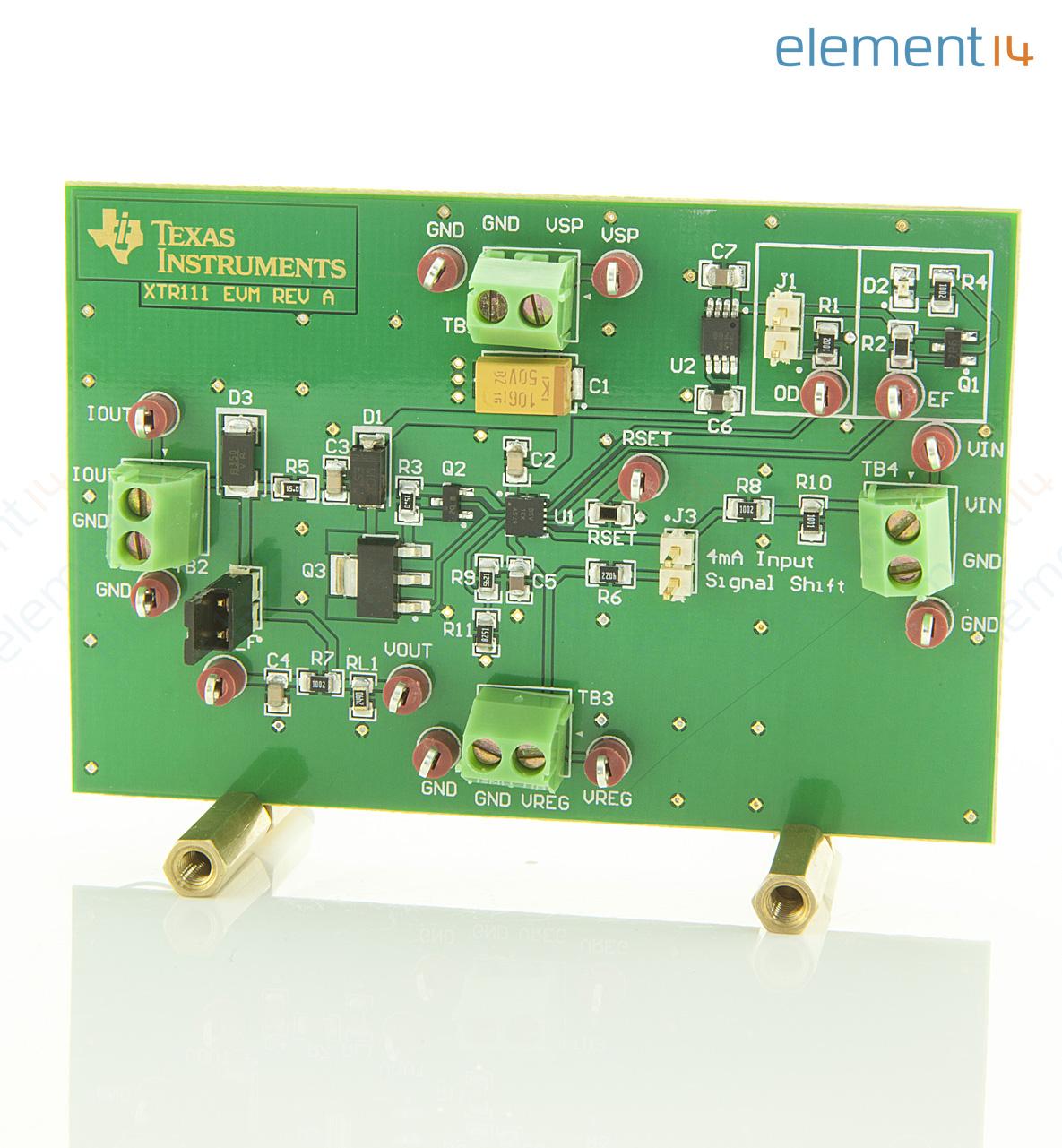 xtr111 2evm texas instruments evaluationsmodul spannungs strom wandler transmitter hohe. Black Bedroom Furniture Sets. Home Design Ideas